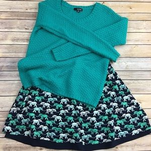 Crown and Ivy elephant skirt